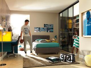 Camera per ragazzi con cabina armadio YC301 Moretti Compact Camera da letto moderna