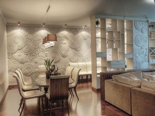Таун-хаус на Никулинской АРХИТКЕТУРНОЕ БЮРО 'IKRA-DESIGN' Гостиная в стиле модерн