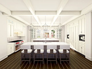 3D Rendering Services for Architectural and Real Estate Development JMSD Consultant - 3D Architectural Visualization Studio KitchenTables & chairs Wood White