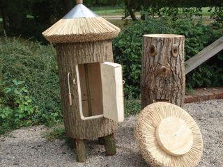 Bienenhaltung in Klotzbeute Holzbau Bohse Rustikaler Garten Holz