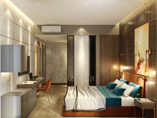 OTEL PROJESİ WALL INTERIOR DESIGN Modern Yatak Odası