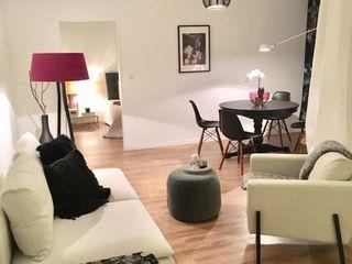 Münchner home staging Agentur GESCHKA Salon moderne Multicolore