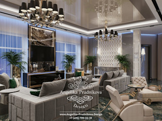 Дизайн-студия элитных интерьеров Анжелики Прудниковой Classic style living room