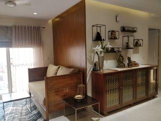 Saloni Narayankar Interiors Living roomCupboards & sideboards Parket Brown