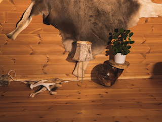 schöne Tischlampe mit Birkenrindeschirm Jochens-Elch-O-Thek WohnzimmerBeleuchtung Holz Grau