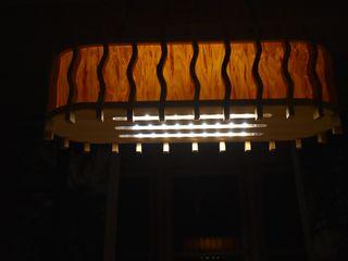 Holzlampe - nordischer Traum Jochens-Elch-O-Thek EsszimmerBeleuchtungen Holz Gelb