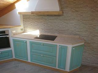 cucina rustica finta muratura il falegname di Diego Storani CucinaPiani di lavoro