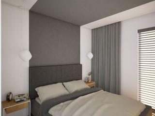 Anna Freier Architektura Wnętrz Salas de estilo minimalista Gris