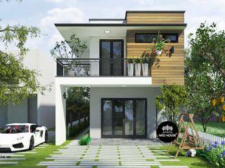 Mẫu thiết kế nhà phố 2 tầng đẹp mặt tiền 5m tại Đồng Nai NEOHouse