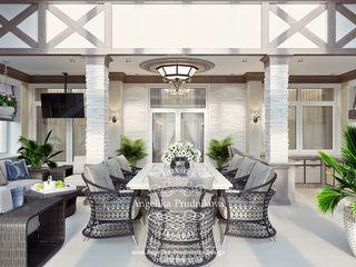Дизайн-студия элитных интерьеров Анжелики Прудниковой Modern balcony, veranda & terrace