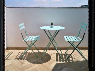 studio ferlazzo natoli Eclectic style balcony, veranda & terrace