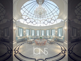 Home Interiors with Glamorous Skylight IONS DESIGN Living room Iron/Steel White