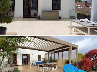 Moderne Dachterrassengestaltung Frankfurt / Hessen GEMPP GARTENDESIGN - Gartenplanung Gartengestaltung Landschaftsbau Moderner Garten