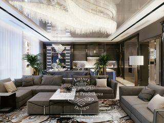 Дизайн-студия элитных интерьеров Анжелики Прудниковой Modern living room