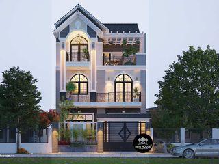 Mẫu thiết kế biệt thự hiện đại 3 tầng dẹp mái thái tại Tphcm NEOHouse