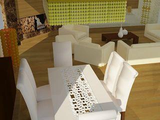 SERPİCİ's Mimarlık ve İç Mimarlık Architecture and INTERIOR DESIGN Їдальня Дерево-пластичний композит Білий