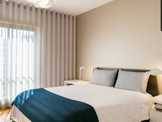 Traço Magenta - Design de Interiores 寝室ベッド&ヘッドボード