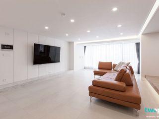 전주인테리어 진흥 더블 파크 50평대 아파트인테리어 디자인투플라이 모던스타일 거실