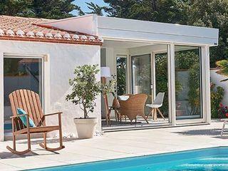 Véranda Gustave Rideau Salones mediterráneos Aluminio/Cinc Blanco