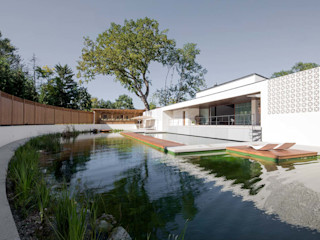 destilat Design Studio GmbH Modern pool