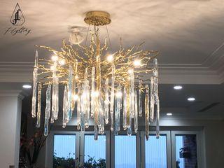 Công ty CP Fashion Lighting Global Балкони, веранди & тераси Освітлення Мідь / Бронза / Латунь Янтарний / Золотий
