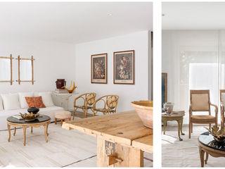 096. ECLECTICISM IN WHITE Abrils Studio Salones de estilo colonial