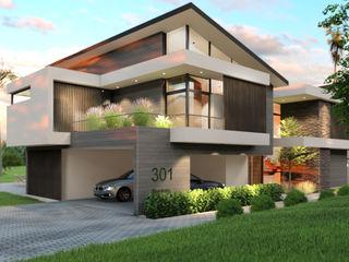 Architexture Lab 現代房屋設計點子、靈感 & 圖片 磚塊 Beige