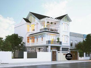 Mẫu thiết kế biệt thự hiện đại 3 tầng mái thái đẹp tại Tphcm NEOHouse