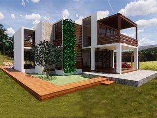 Ingreso principal ROQA.7 ARQUITECTURA Y PAISAJE Casas campestres