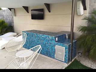 AUDIA ingeniería Minimalist balcony, veranda & terrace Metal White