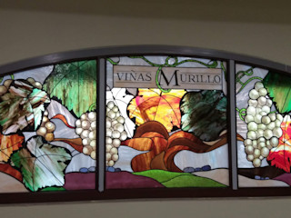 Vidrieras Artísticas para Bodegas Murillo Vidrieras Artisticas VITREX C.B. Puertas y ventanasDecoración de ventanas Vidrio Verde