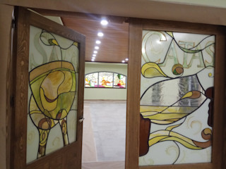 Vidrieras Artísticas para Bodegas Murillo Vidrieras Artisticas VITREX C.B. Bodegas de estilo clásico Vidrio Beige