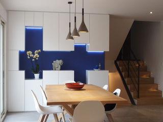Annecy maison DAI Création Salle à manger moderne Bleu