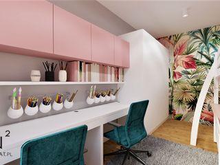 Wkwadrat Architekt Wnętrz Toruń Girls Bedroom MDF Turquoise