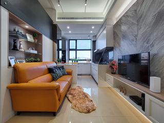 中和天晴 你你空間設計 现代客厅設計點子、靈感 & 圖片