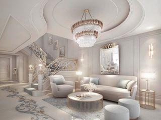 Charming Home Interior Design IONS DESIGN Living room Stone Grey
