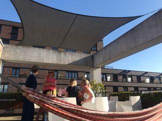 ZONZ sunsails Toit-terrasse Plastique Gris