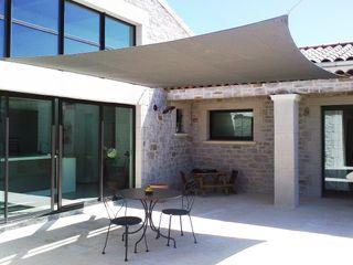 ZONZ sunsails Balcon, Veranda & TerrasseAccessoires & décorations Textile Gris