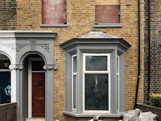 Pebbledash removal restoration in Hackney, London S.J. Pointer
