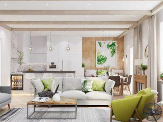 Компания архитекторов Латышевых 'Мечты сбываются' Living room