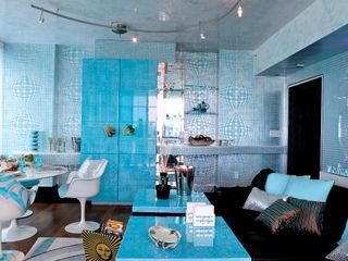 Blu dipinto di Blu Eclectic style living room Metallic/Silver