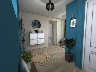relion conception Pasillos, vestíbulos y escaleras de estilo escandinavo