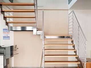 studiolineacurvarchitetti Stairs Wood Grey