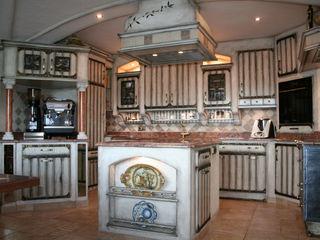 Villa Medici - Landhauskuechen aus Aschheim 置入式廚房 木頭 White