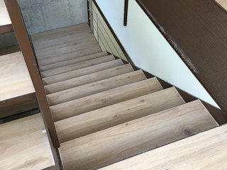 studiolineacurvarchitetti Stairs Ceramic Brown