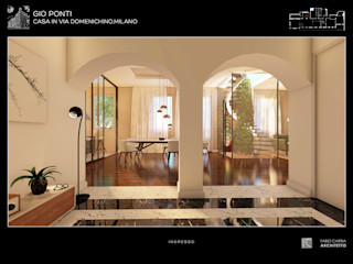 Fabio Carria Modern corridor, hallway & stairs