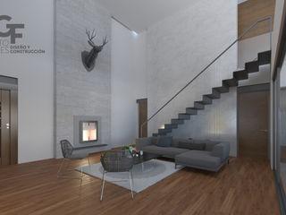 GF ARQUITECTOS Moderne woonkamers