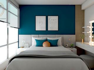 Proyecto Dormitorio Principal NF Diseño de Interiores Dormitorios de estilo moderno