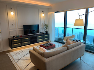 Private Residence   Azura   Mid-Levels, Hong Kong KMok Consulting Limited Modern living room