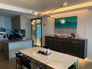 Private Residence   Azura   Mid-Levels, Hong Kong KMok Consulting Limited Modern dining room